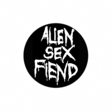 Alien Sex Fiend Logo Badge